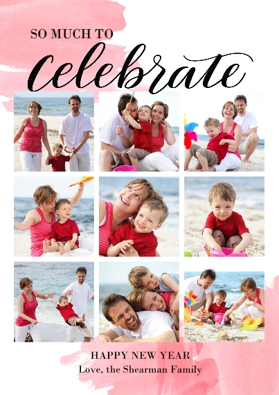 Christmas Photo Cards Set of 20, Premium 5x7 Foil Card, Card & Stationery -Celebrate The Year