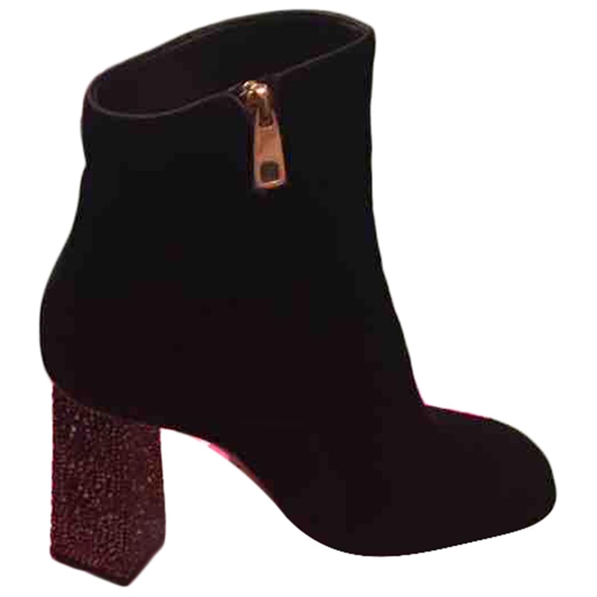 Dolce & Gabbana - Boots   pour femme en suede - noir