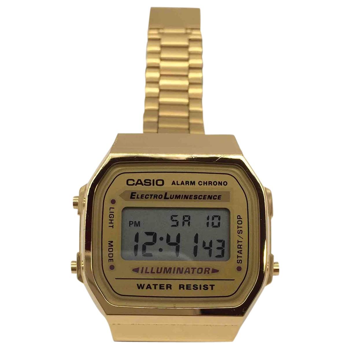 Casio \N Uhr in  Gold Stahl