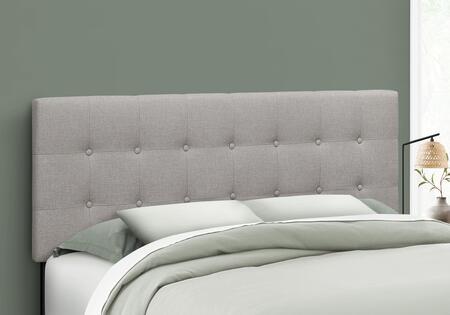I 6003Q Bed - Queen Size Grey Linen Headboard