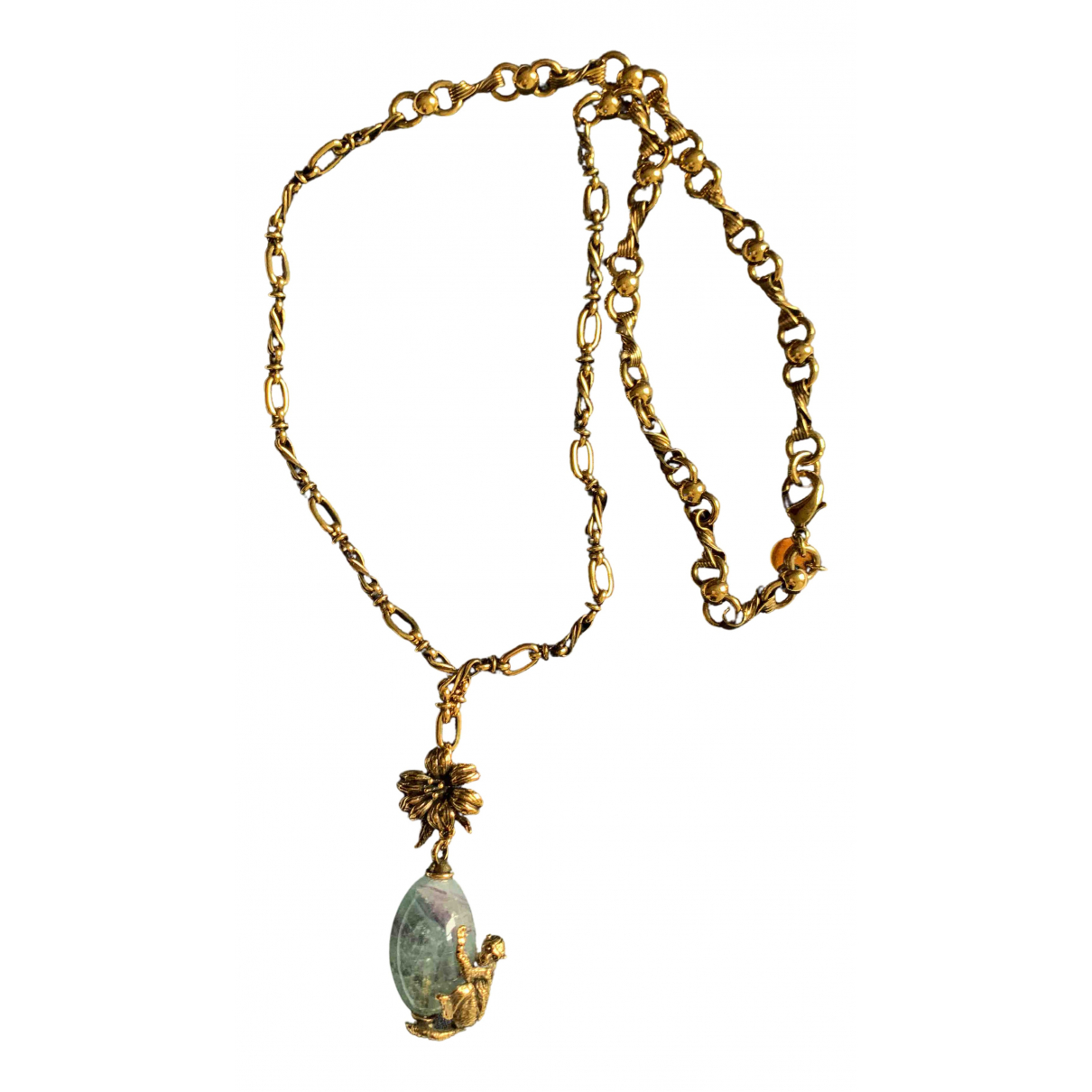 Prada N Gold Metal necklace for Women N