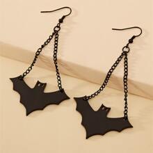 Ohrringe mit Halloween Fledermaus Anhaenger