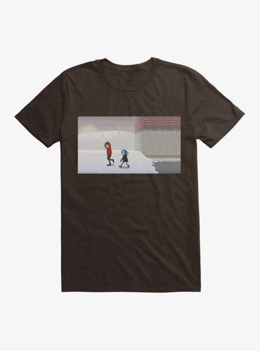 Sally Face Walking Through The Snow T-Shirt