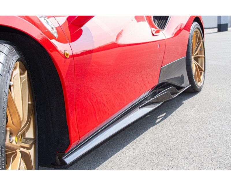 Capristo Side Skirts Ferrari 488 Pista   GTB   GTS