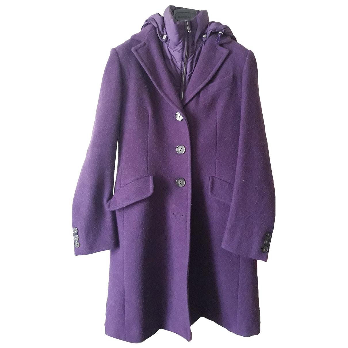 Max Mara Weekend - Manteau   pour femme en laine - violet