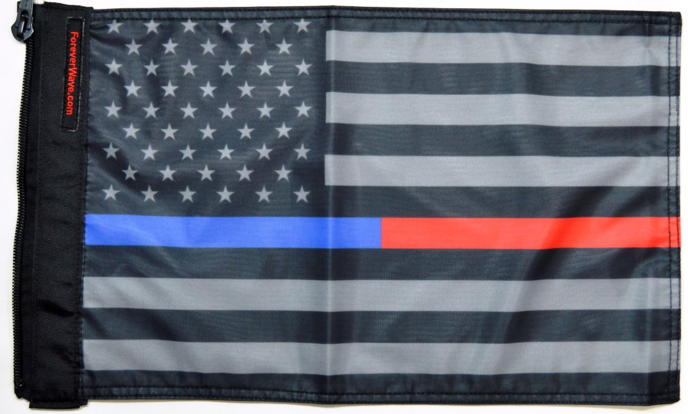 Forever Wave 5376 USA Subdued Thin Blue-Red Line Flag