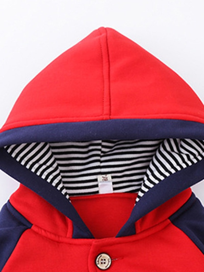 Ericdress Cartoon Color Block Boy's Coat