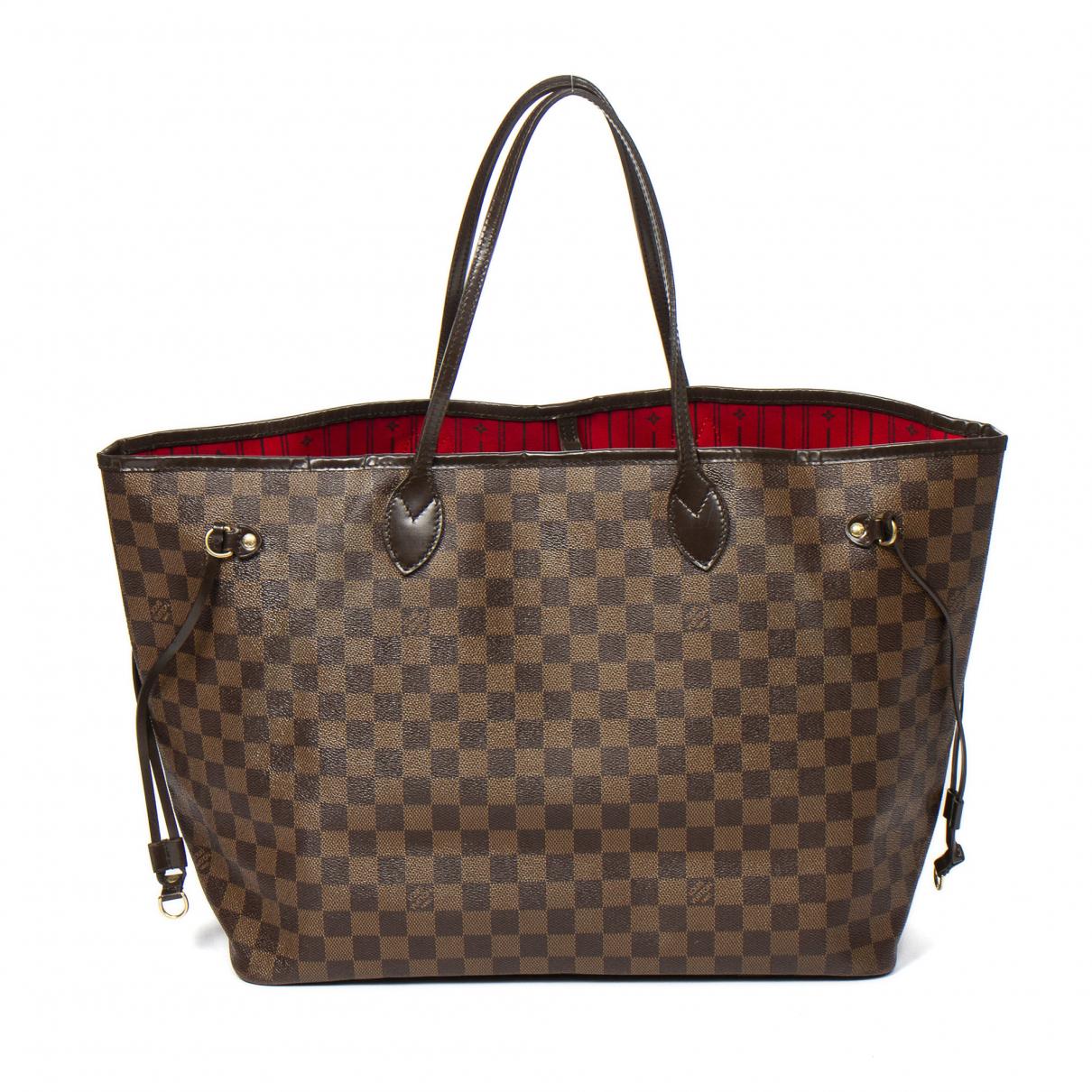 Louis Vuitton Neverfull Brown Leather handbag for Women \N