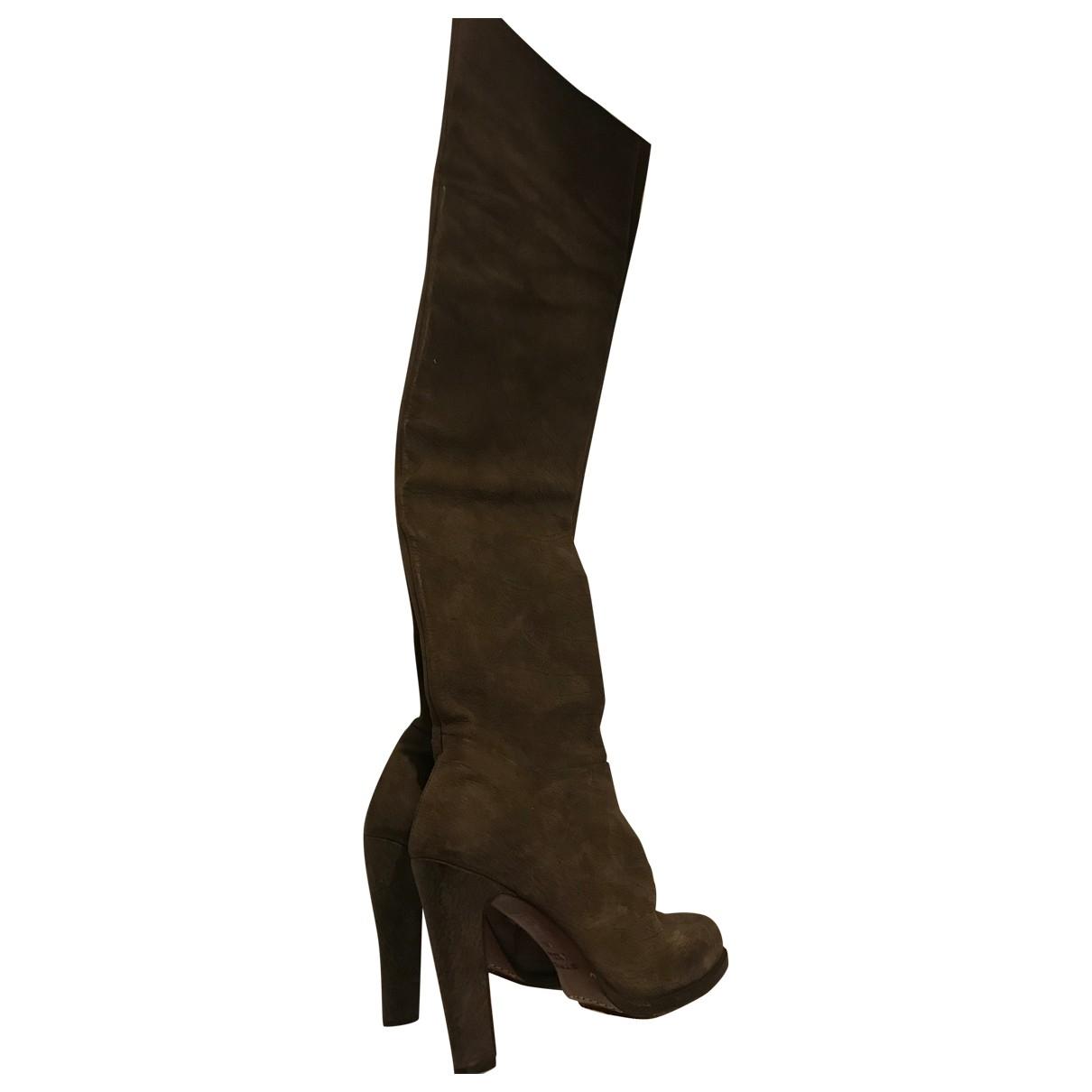 Etro - Bottes   pour femme en cuir - marron