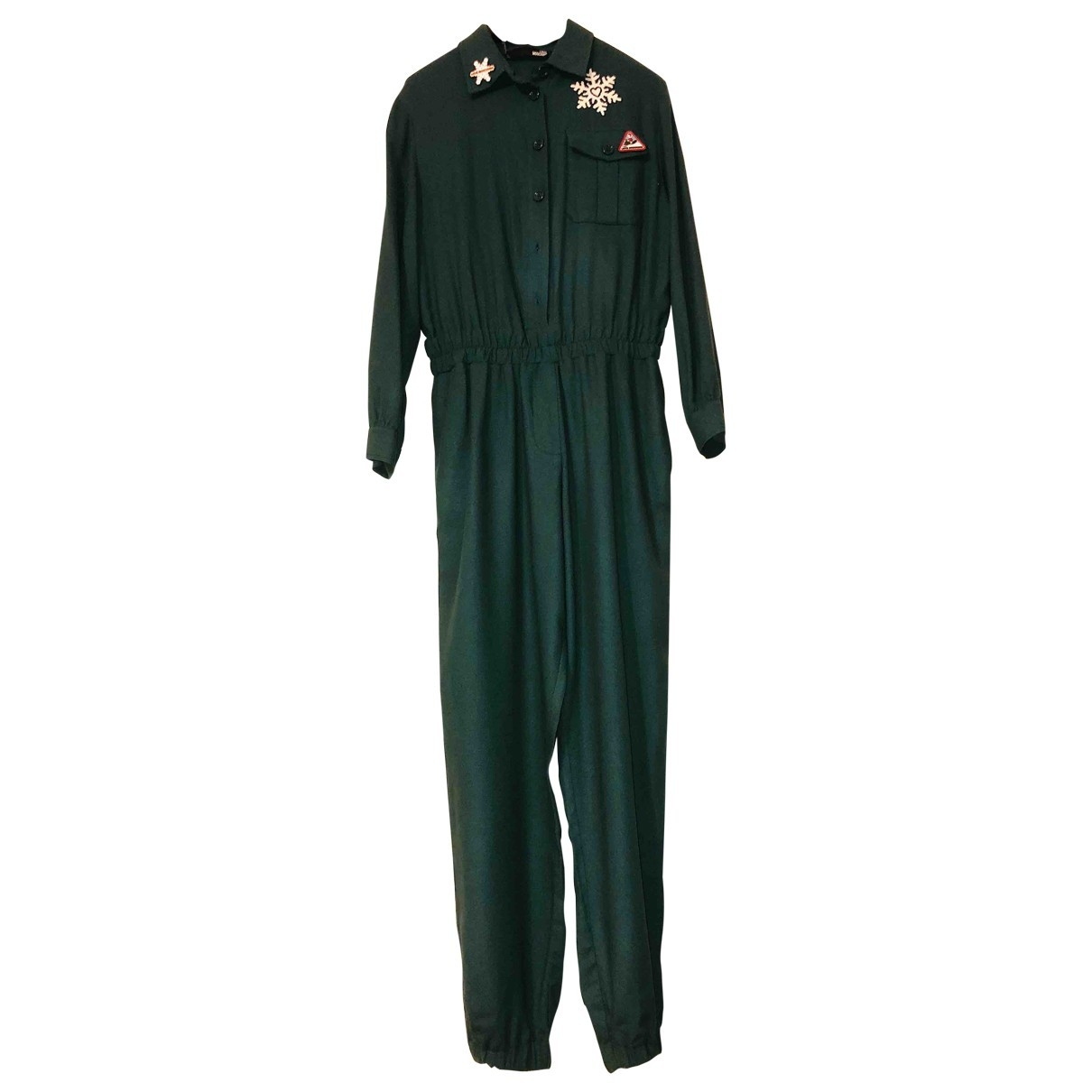 Moschino Love - Combinaison   pour femme en coton - vert