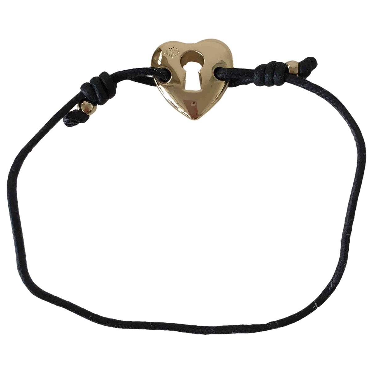 Mulberry \N Armband in  Schwarz Leder