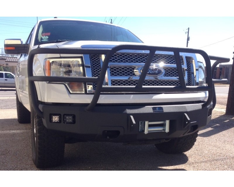 Hammerhead Armor 600-56-0343 Ford F-150 Front Winch Bumper Full Brushguard For 09-14 Ford F-150 Black Steel X-Series