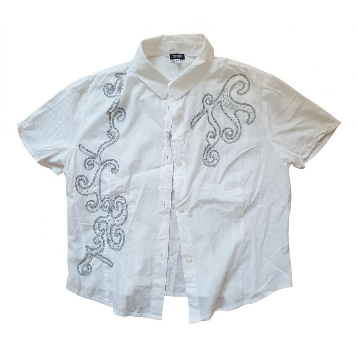 Versace Jean - Top   pour femme en coton - blanc