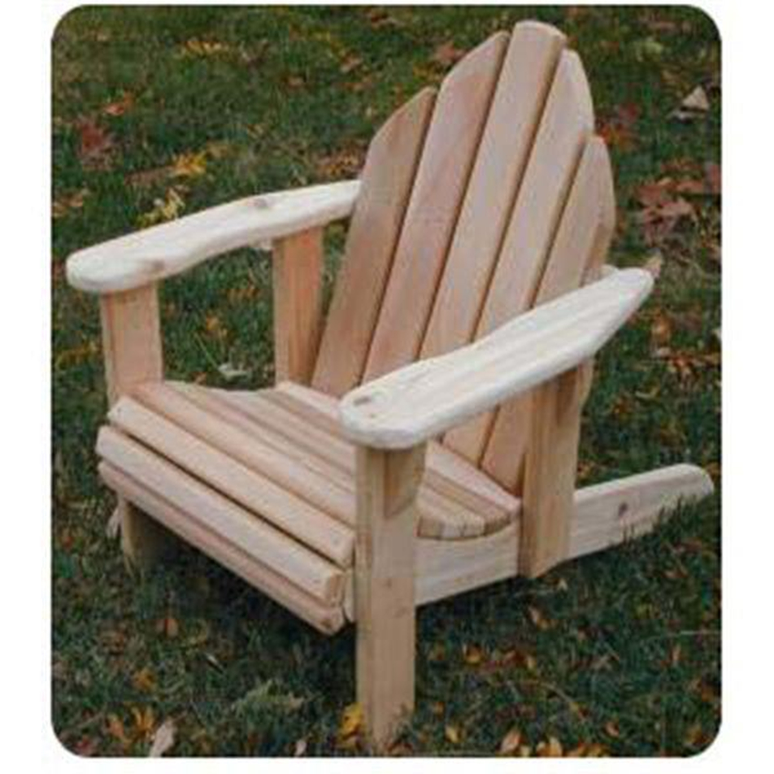 Woodworking Project Paper Plan to Build Child-Size Adirondack Chair