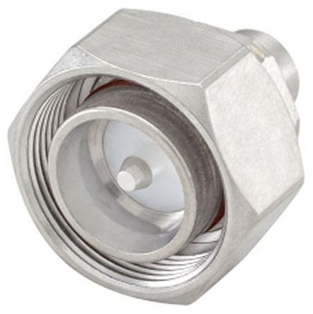 Rosenberger , 4.3-10 Straight 50Ω HEX Screw Coaxial Connector, Plug, Solder Termination, RG402