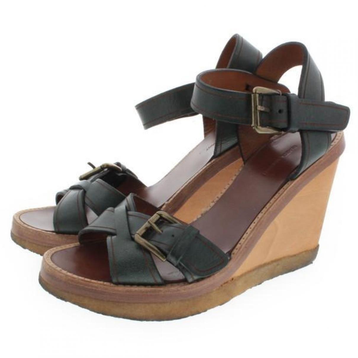 Isabel Marant \N Green Leather Sandals for Women 38 EU