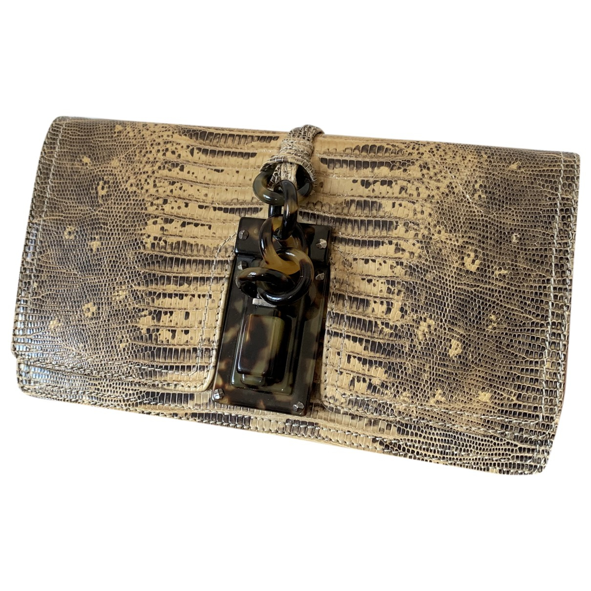 Bottega Veneta \N Brown Python Clutch bag for Women \N