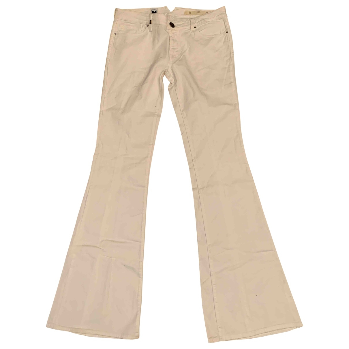 M Missoni \N White Cotton - elasthane Jeans for Women 32 US