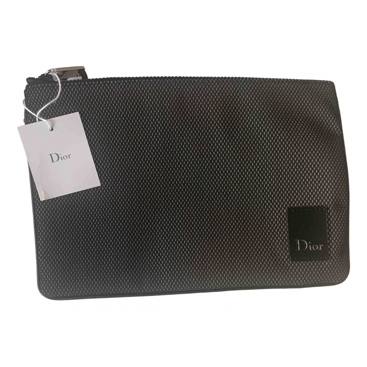 Dior Homme \N Grey Cloth Small bag, wallet & cases for Men \N