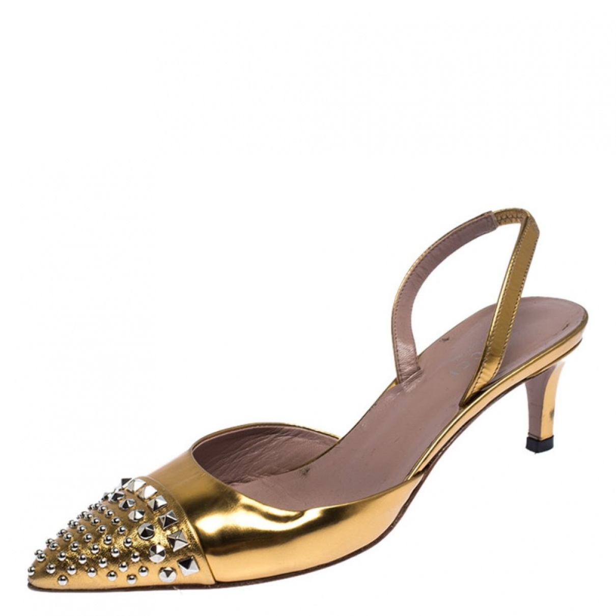 Gucci \N Gold Patent leather Heels for Women 36 EU