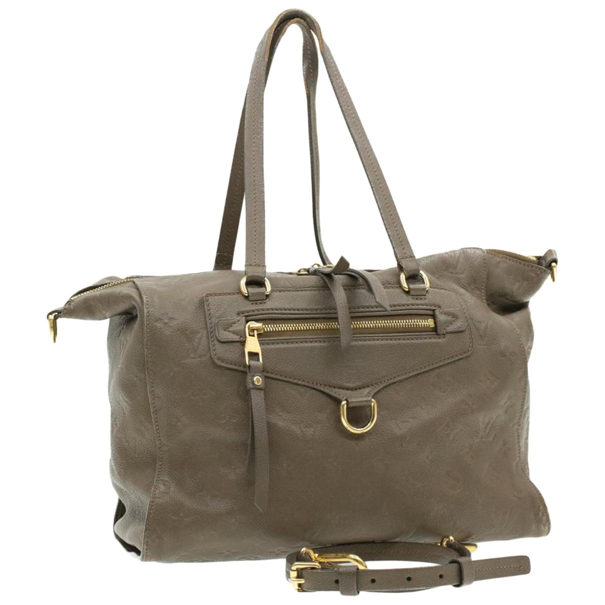 Louis Vuitton \N Grey Leather handbag for Women \N