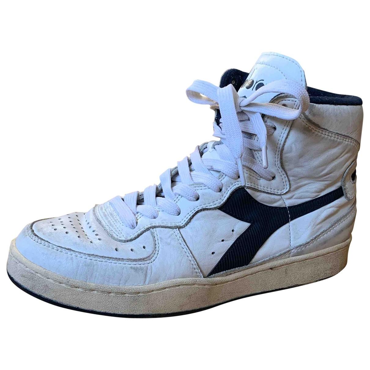 Diadora Heritage - Baskets   pour homme en cuir - blanc