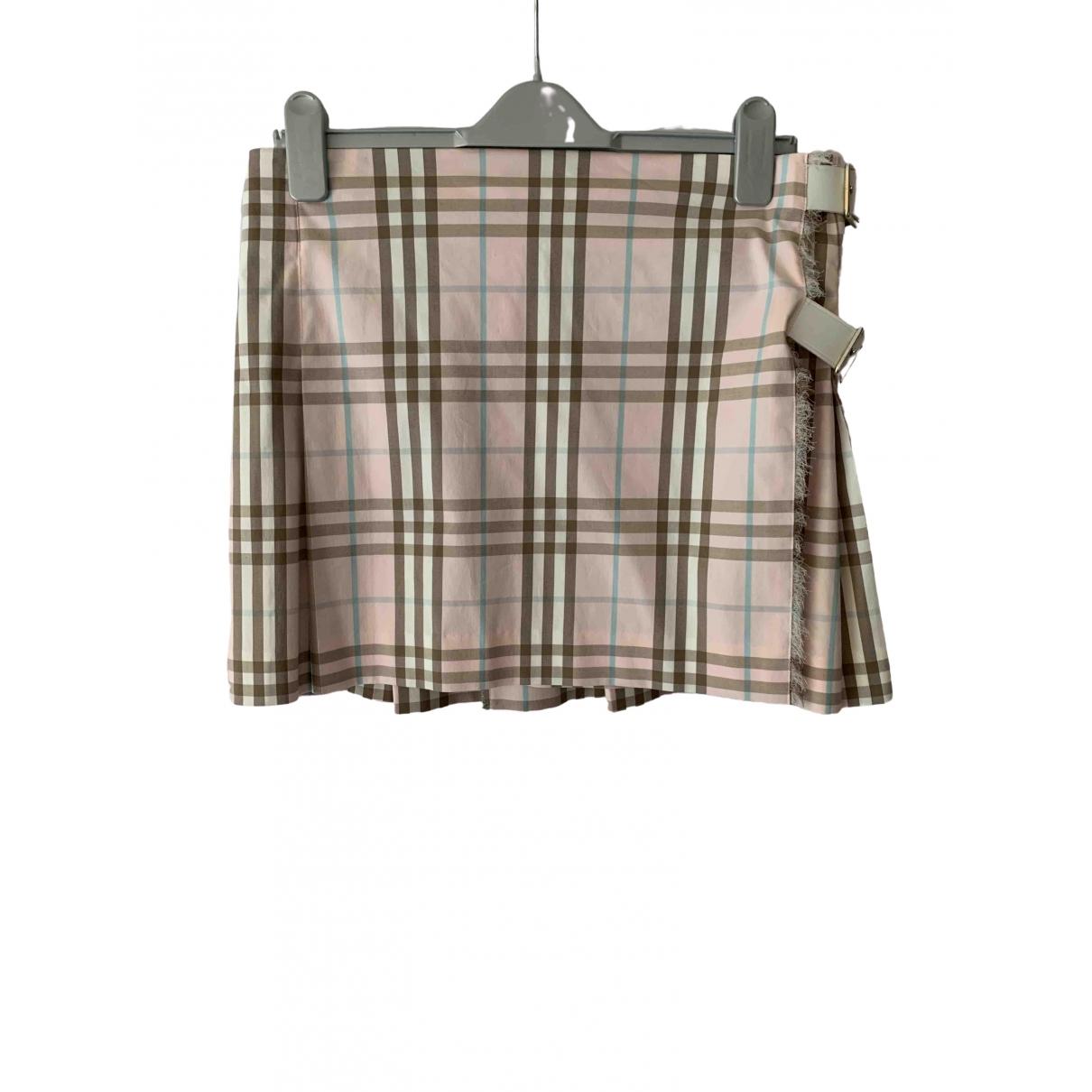 Burberry - Jupe   pour femme en coton - rose