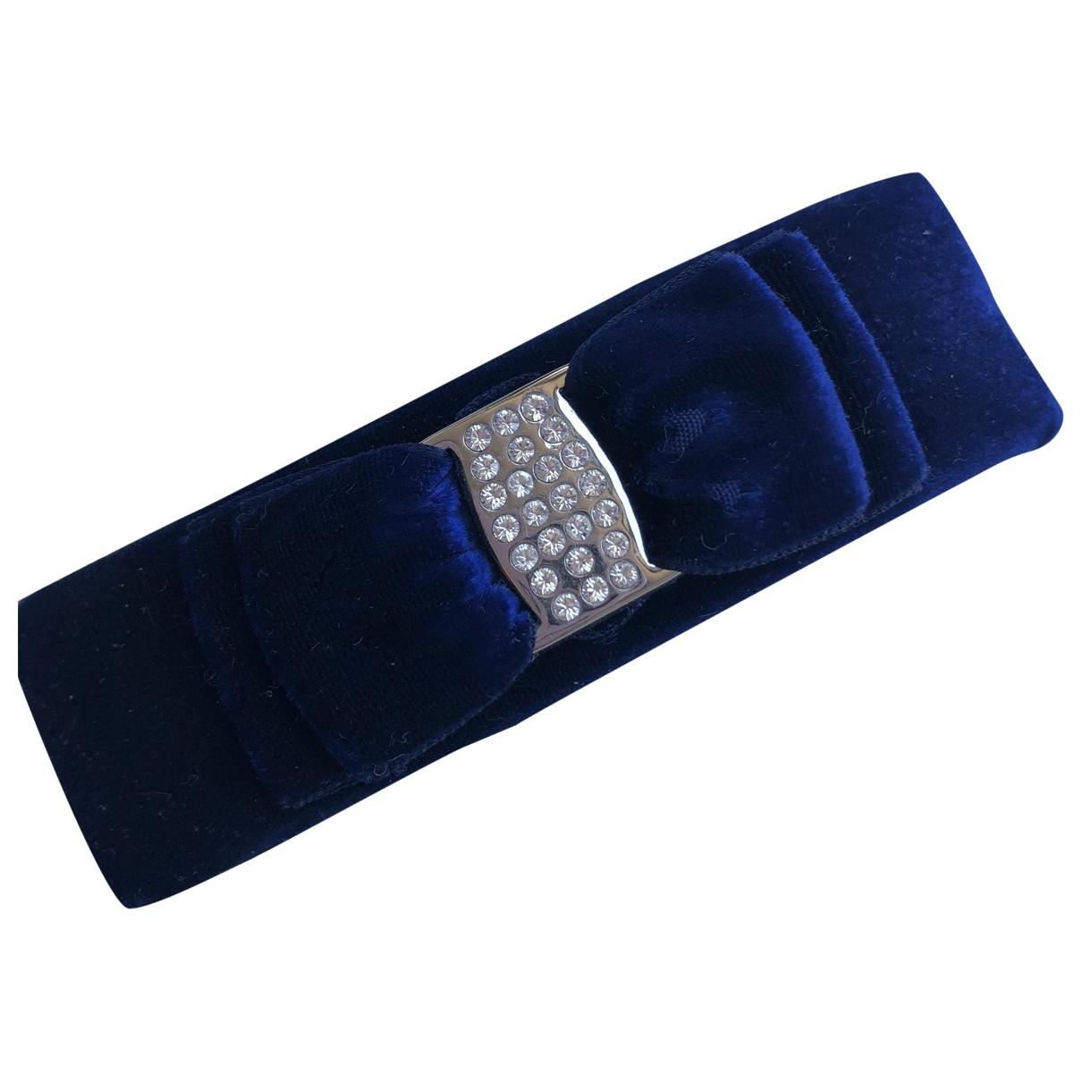 Salvatore Ferragamo \N Blue Cloth Hair accessories for Women \N
