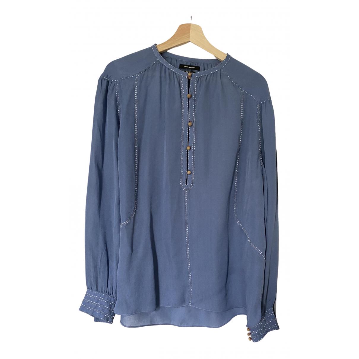 Isabel Marant - Top   pour femme en soie - bleu