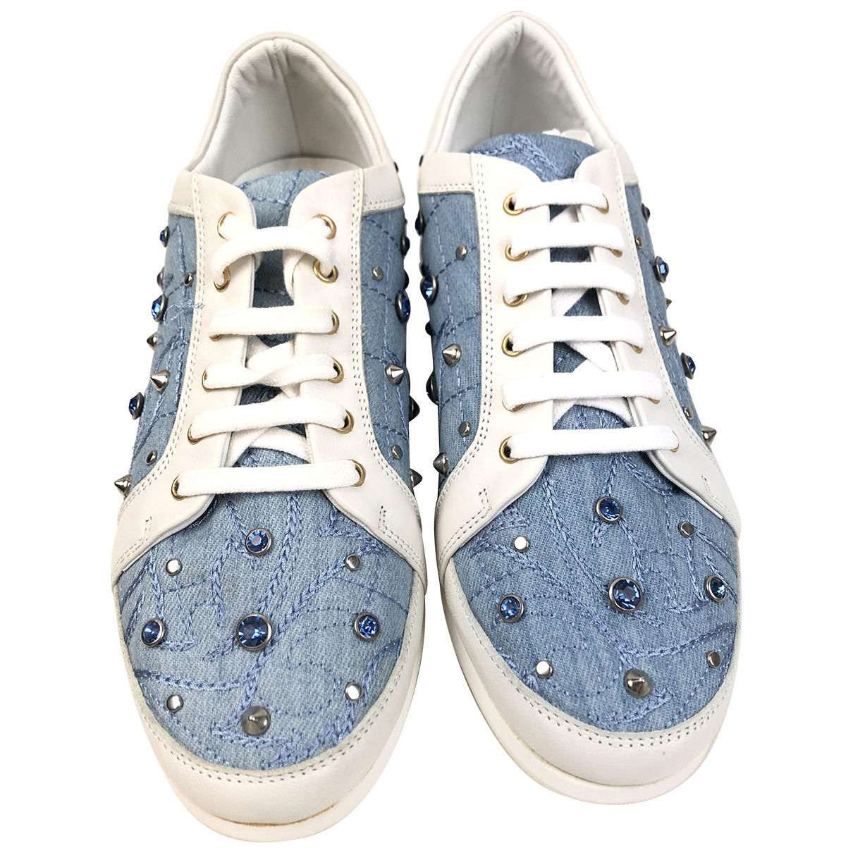 Versace \N Sneakers in  Blau Leinen