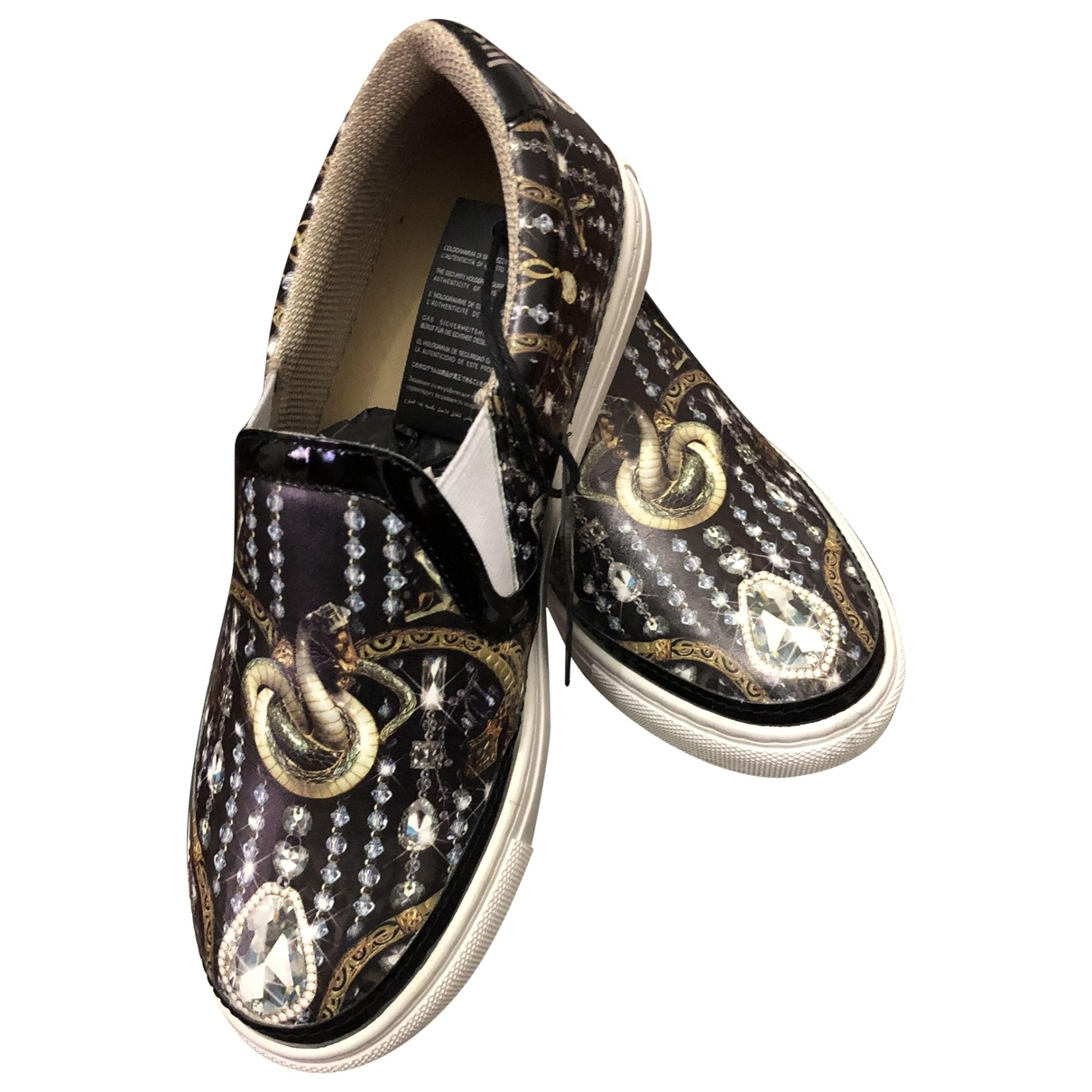 Just Cavalli \N Black Leather Trainers for Women 36 EU