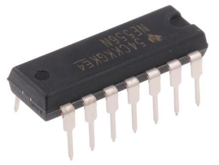 Texas Instruments NE556N, Timer Circuit, Dual, 14-Pin PDIP (25)