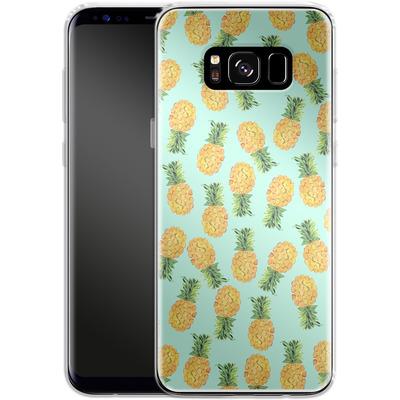 Samsung Galaxy S8 Silikon Handyhuelle - Pineapple von Amy Sia
