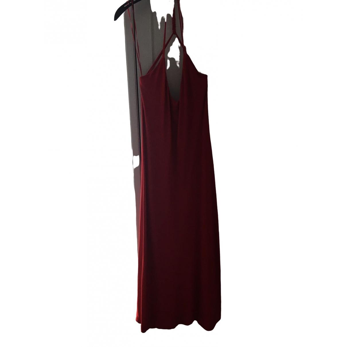 Ralph Lauren - Robe   pour femme en soie - rouge