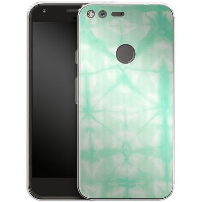 Google Pixel XL Silikon Handyhuelle - Tie Dye 2 Mint von Amy Sia