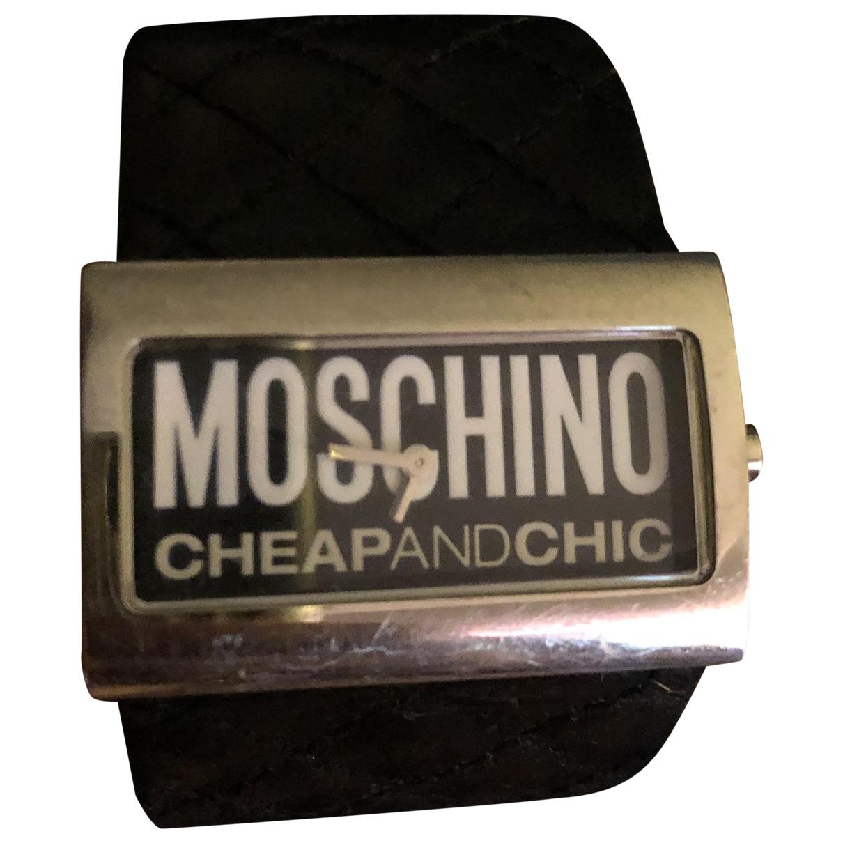 Moschino Cheap And Chic - Montre   pour femme en acier - noir