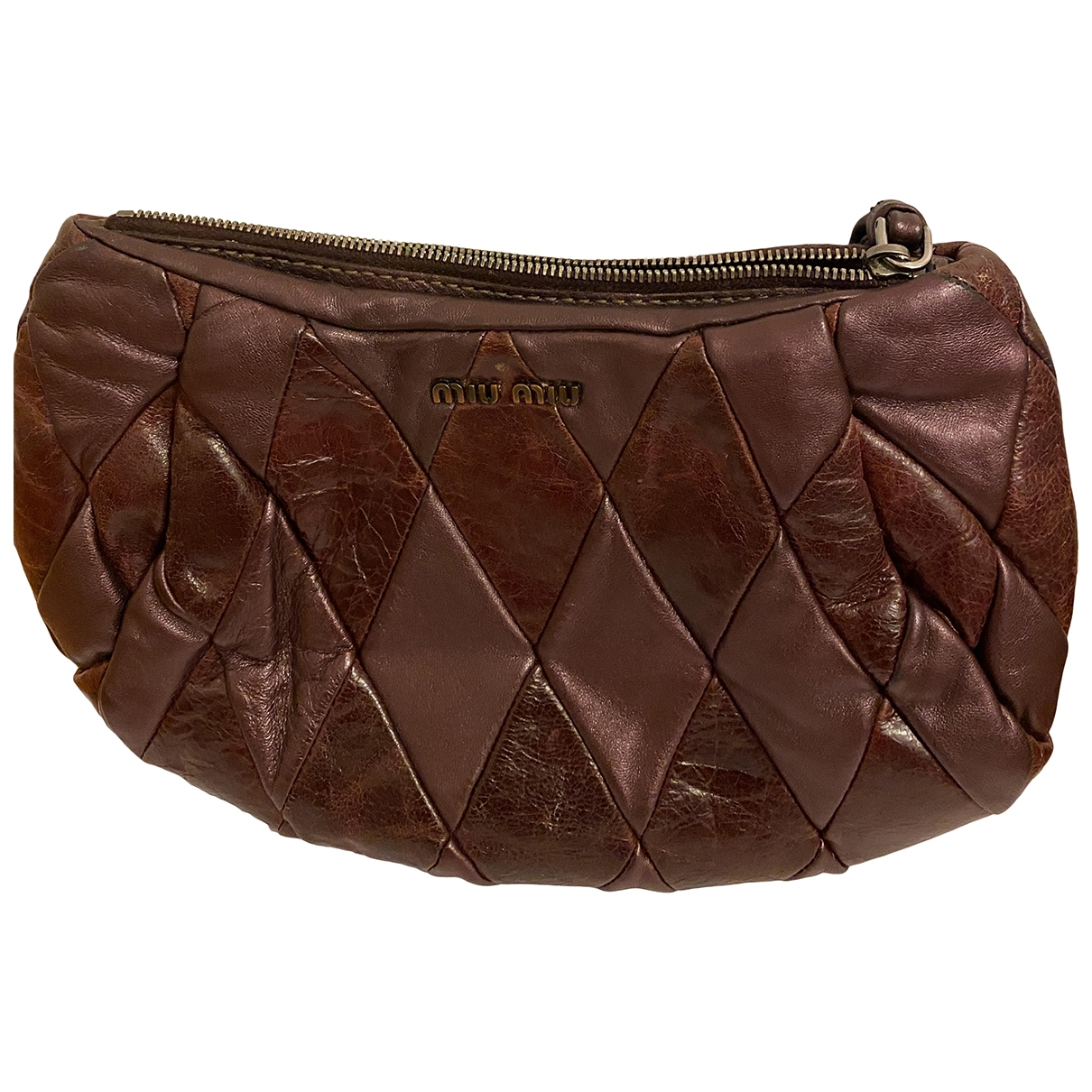 Miu Miu \N Burgundy Leather Clutch bag for Women \N