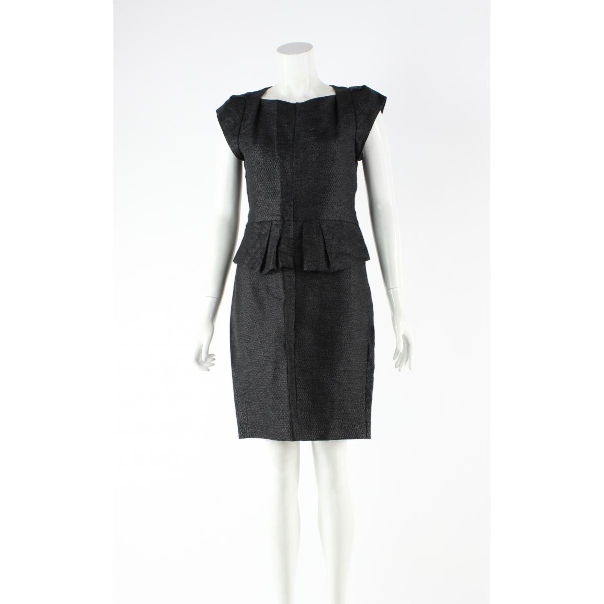 Maje N Black Cotton dress for Women 38 FR