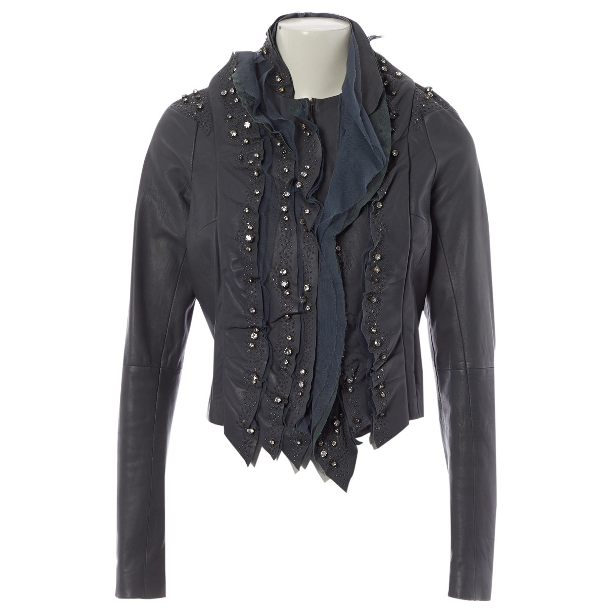 Givenchy \N Jacke in  Anthrazit Leder
