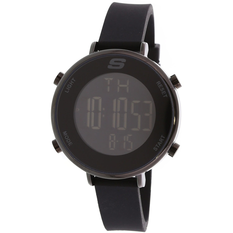 Skechers Watch  SR6065 Magnolia Digital Display Calendar, Back Light, Alarm, Chronograph Stainless Steel / Black