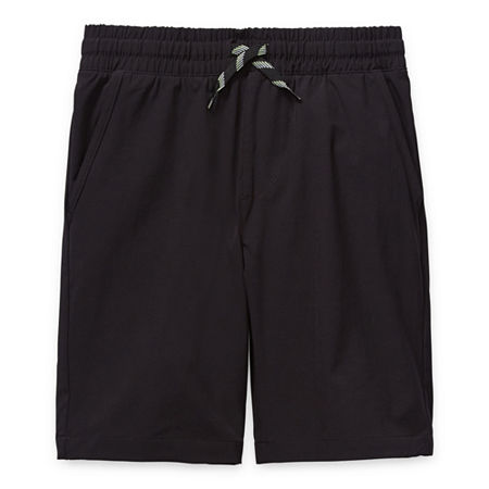 Arizona Little & Big Boys Adjustable Waist Hybrid Short, Large (14-16) , Black