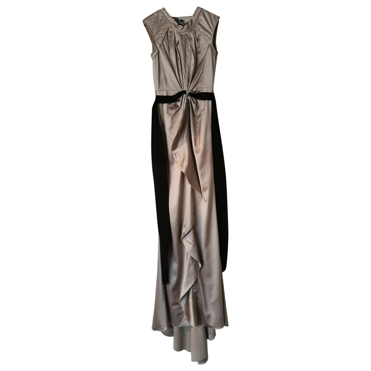 Vera Wang \N Kleid in  Metallic Polyester