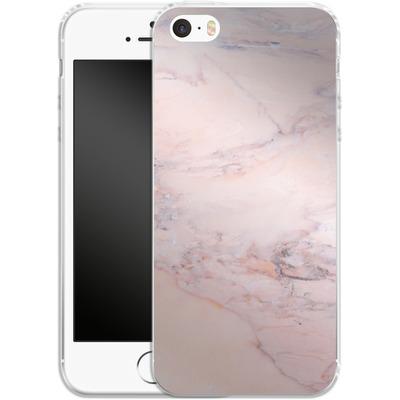 Apple iPhone 5 Silikon Handyhuelle - Blush Marble von Emanuela Carratoni