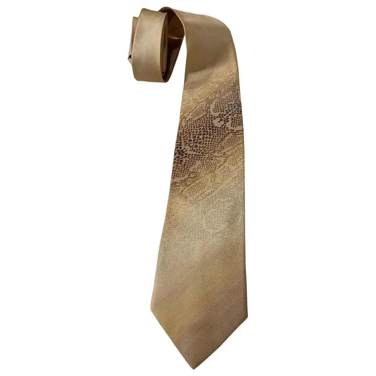 Roberto Cavalli \N Beige Silk Ties for Men \N