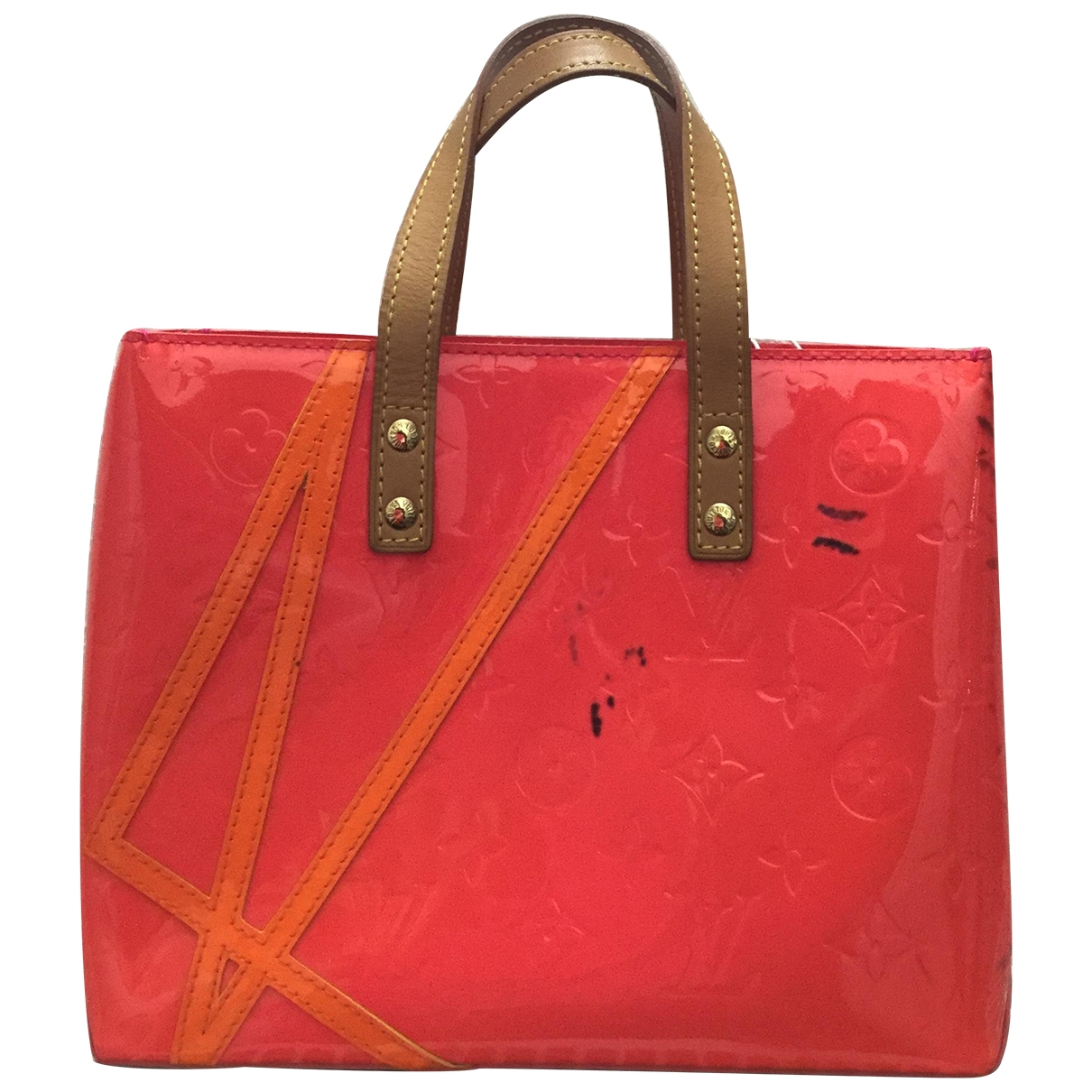 Louis Vuitton Houston Handtasche in  Rosa Lackleder