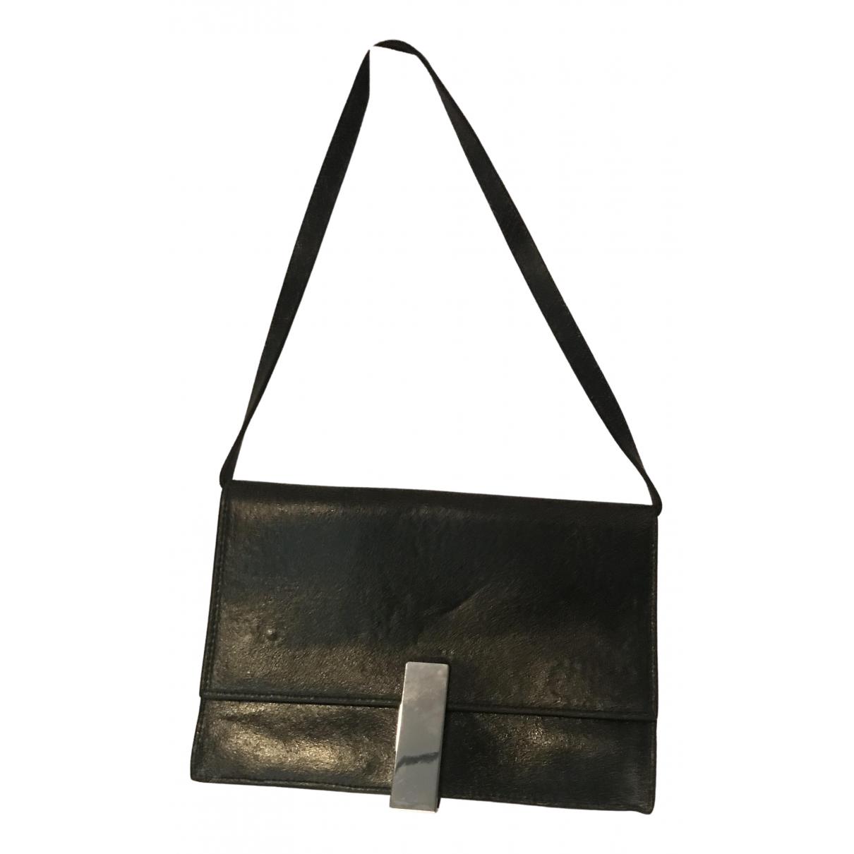 Zara - Sac a main   pour femme en cuir - noir