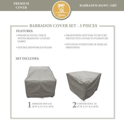 BARBADOS-03cWC-GRY Protective Cover Set  for BARBADOS-03c in