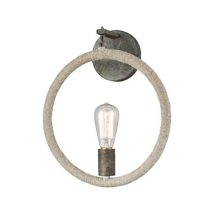 D3865 Lasso Wall Sconce  In Grey Rope  Grey Brown