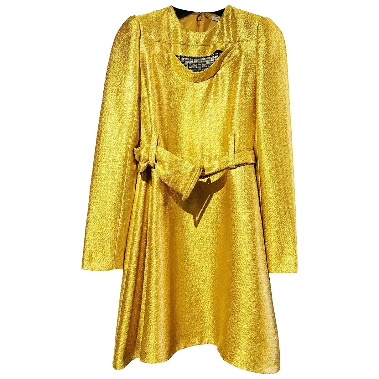 Carven \N Gold Silk dress for Women 4 US