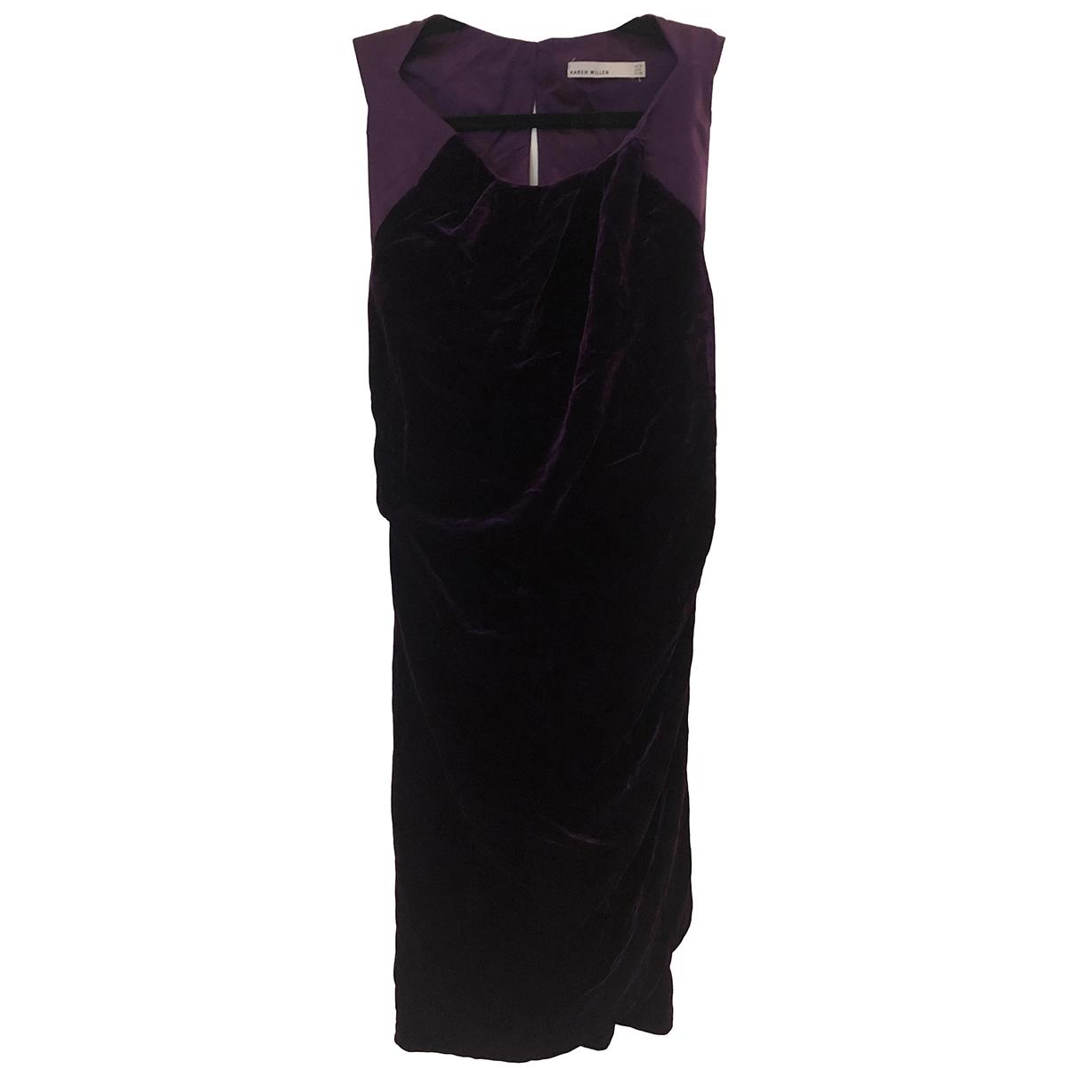 Karen Millen \N Purple dress for Women 10 UK